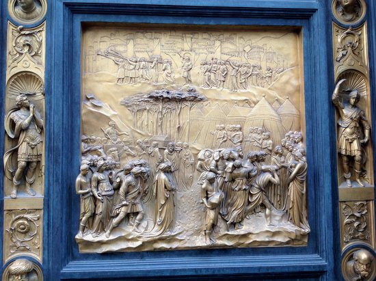 Baptistery of San Giovanni (Battistero): One of the door panels 2