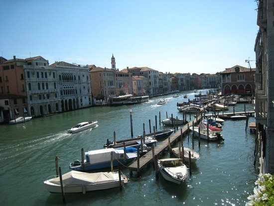 Canal Grande: from hotel terrace
