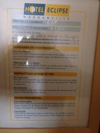 Hotel Eclipse : 83€ la chambre + 9€ le petit déjeuner par personne (complètement hors de prix vu l'emplacement e