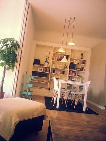Hostal Cien: общая комната отдыха
