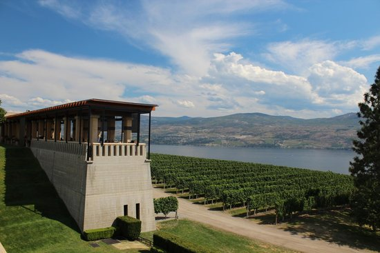 Mission Hill Family Estate Winery: Vue du restaurant et le paysage splendide
