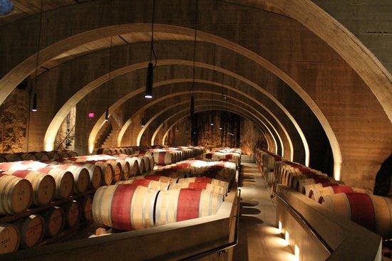 Mission Hill Family Estate Winery: Autre vue des barils de vin