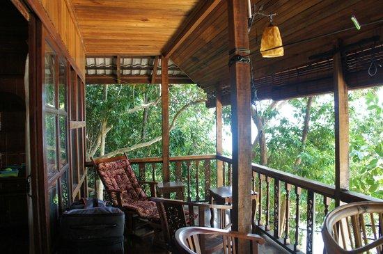 Qimi Chalet : la terrasse