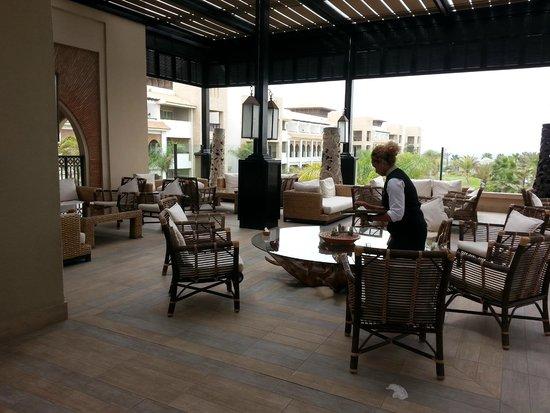 Hotel Riu Palace Tikida Agadir : smoker's terrasse