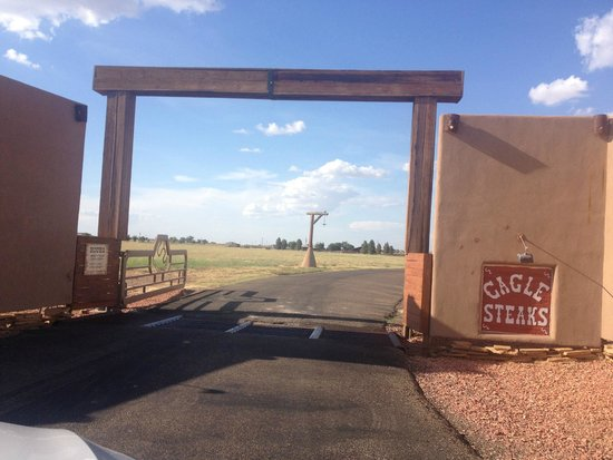 Cagle Steaks: gate into the ranch