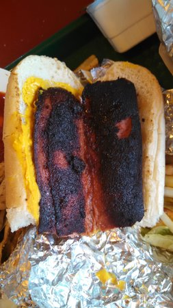 Burger Shack: what they call a hot dog