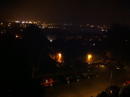 Aberthaw House Hotel: View from our room at night