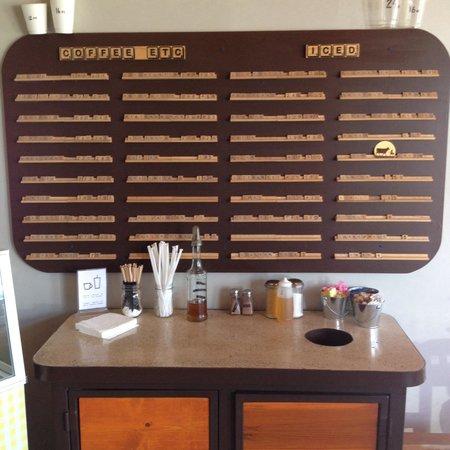 Plaine Coffee : Old Scrabble drinks menu