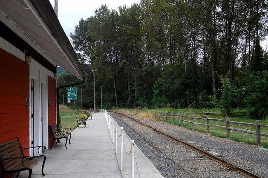 Mt. Rainier Scenic Railroad: Train station and gift shop