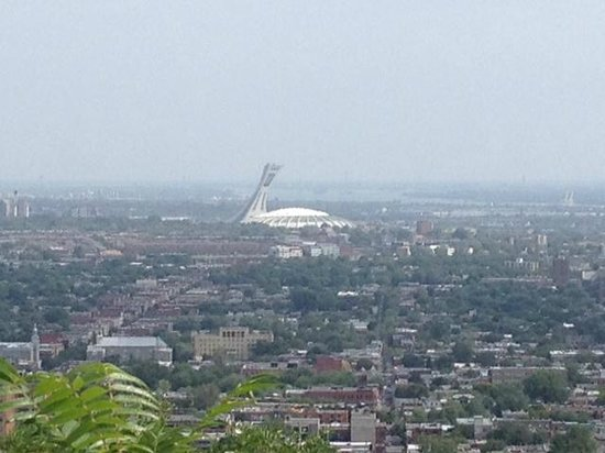 Mont Royal : View of Olympic Stadium from the lookout