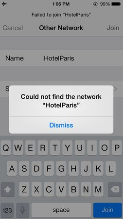 Paris Hotel : Wifi is on - never found a wifi signal in our room. Ever.
