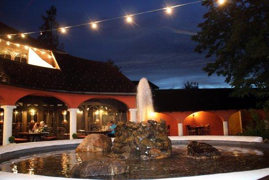 شلوس هوتل روزينج: Außenbereich und Taverne