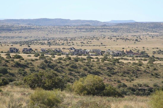 Letsatsi Private Game Lodge: Main Camp from hill.