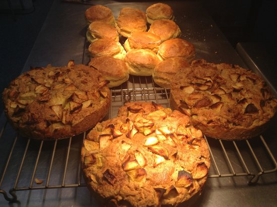 King Alfred's Kitchen: Granny Croft's Dorset Apple Cake fresh from the oven