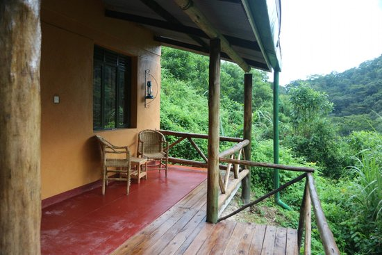 Gorilla Valley Lodge: our terrace with a view on Bwindi forest