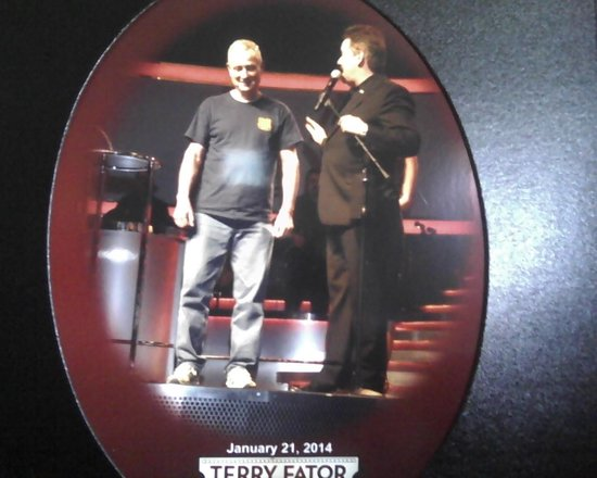 Terry Fator - The Voice of Entertainment : Terry & Brad(my husband) on stage