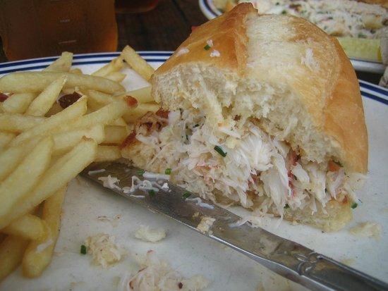 Fish and Chips Sausalito: big fat crab roll