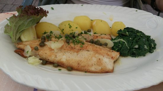 Tannenmühle: trout with almonds