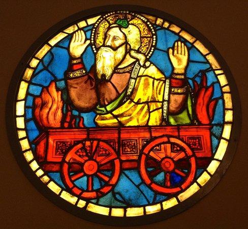 Museo dell'Opera di Santa Croce : Stained glass by Taddeo Gaddi c 1320-1340