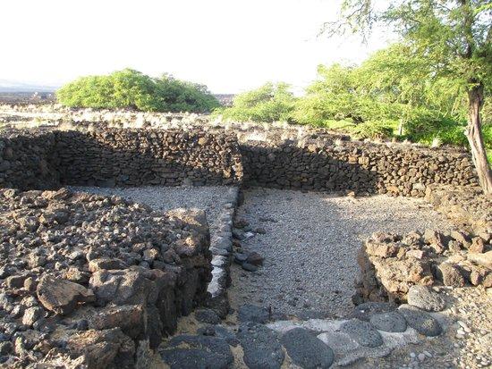 Waikoloa Beach Marriott Resort & Spa: ruins of ancient Hawaiian house