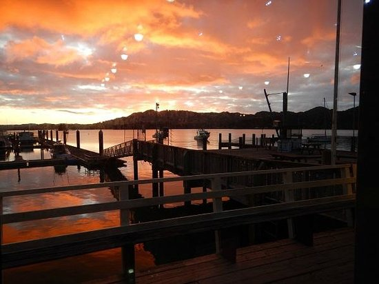 Whangaroa Lodge Motel: Sunset from boatclub