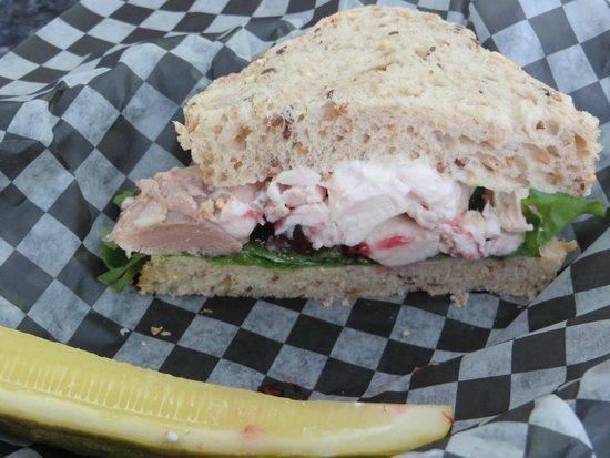 Evelyn's Memory Lane Cafe: turkey stuffing sandwich