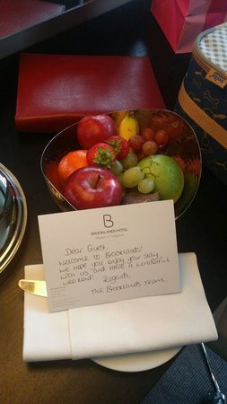 Brooklands Hotel: A nice welcome.
