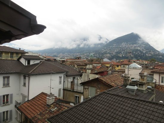 Lugano Dante Center Swiss Quality Hotel: View from loft suite over old town