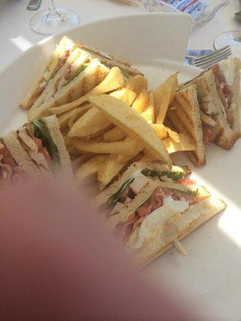 Amathus Elite Suites: Club sandwich at lunch