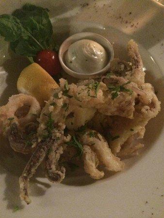 Elite Suites by Amathus Beach: Calamari from the main menu