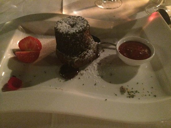Elite Suites by Amathus Beach: Lava Cake from the main menu