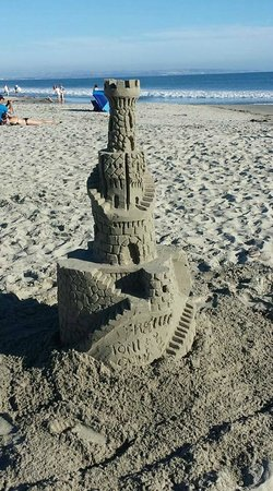 San Diego Sand Castles: Ta-Da!!!! Came out pretty well!