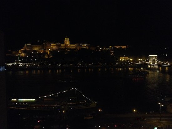 Sofitel Budapest Chain Bridge: View from the Hotel (Night time) 1