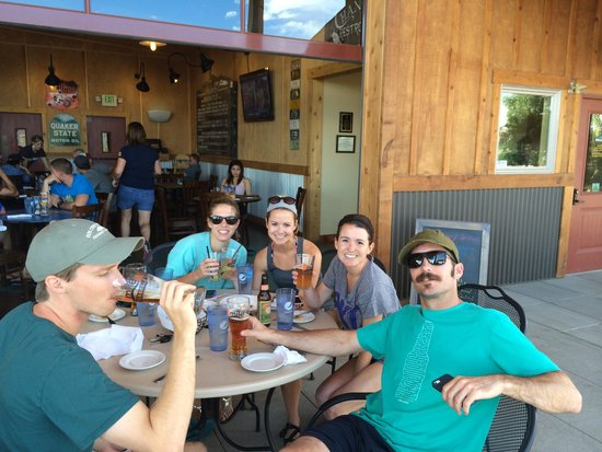 Echo Canyon River Expeditions - Day Trips: Celebratory after-rafting beers.