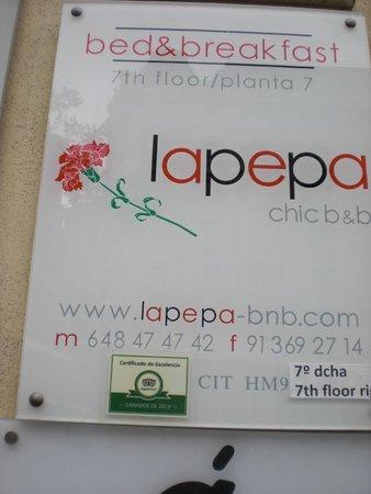 Lapepa Chic Bed & Breakfast : cartel informativo