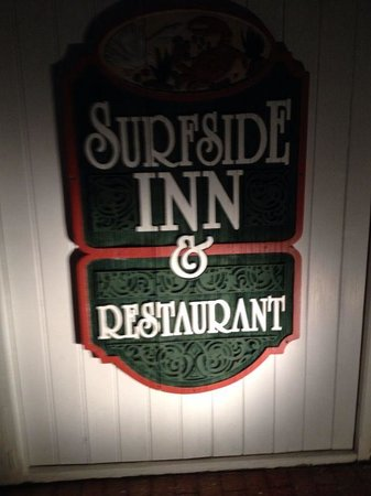 The Surfside Inn: Signboard of the local