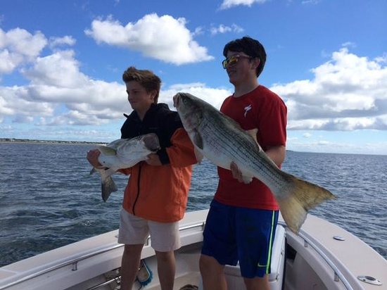 Reel Deal Fishing Charters: Perfect day of fishing! 2 of our stripers