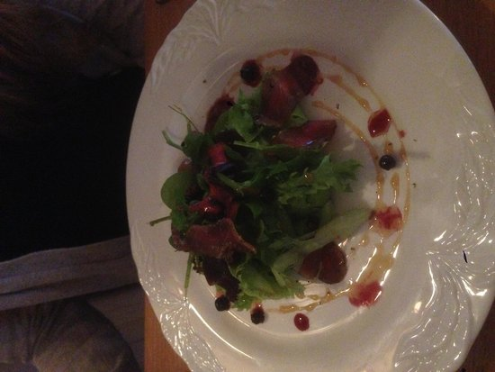 Hofsstadir Guesthouse: cured lamb starter