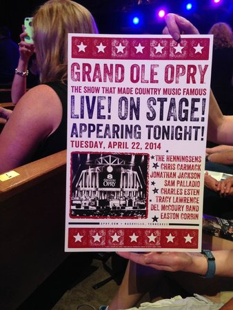 Poster of performers at The Grand Ole Opry