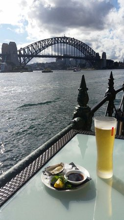 Sydney Cove Oyster Bar: Beer and oysters with a great view