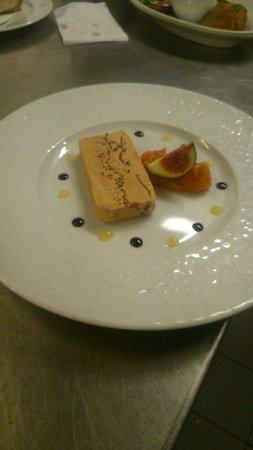 Café Llorca : Foie gras de canard au magret fumé chutney melon agrumes