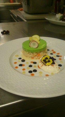 Café Llorca : tourteaux petit pois blanc manger citron vert