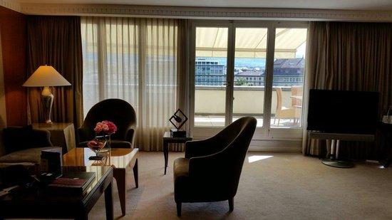 Mandarin Oriental, Geneva : Junior suite .. great terrace