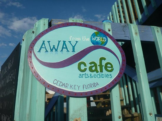 Away From The World Burger and Beer Bar : Away from the World Cafe in Cedar Key