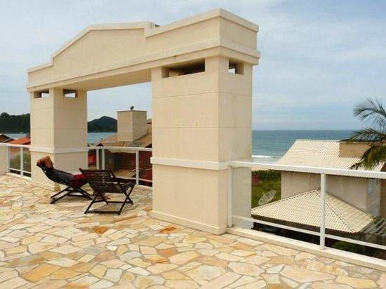 Pousada Pedra Salgada: Vista da praia do Mariscal a partir do terraço