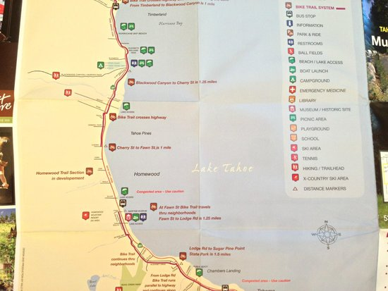 Resort at Squaw Creek : Lake Trail Map (from the hotel)