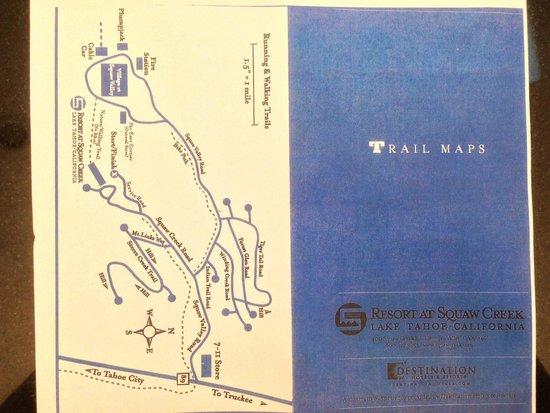 Resort at Squaw Creek : Running/Biking trails near hotel