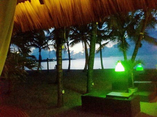 Lazy Dog Beach Bar and Grill Cabarete : The Lazy Dog at dusk