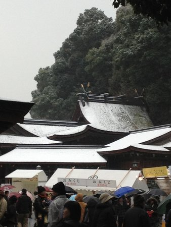 Kotohira-gu Shrine: 雪の金比羅