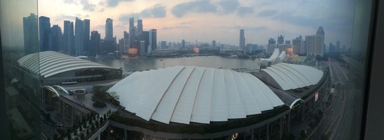 Marina Bay Sands: View from our hotel window
